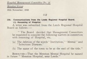 Renaming the Hospital November 1948 
